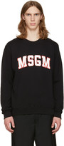 MSGM Black Outline Logo Pullover