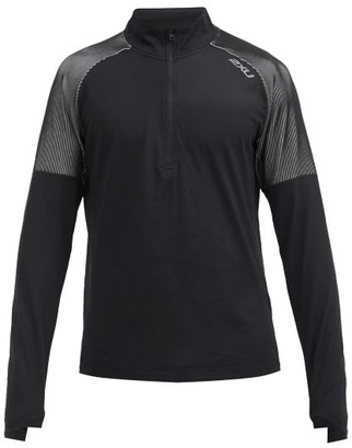 2XU Ghst High-neck Technical-jersey Track Top - Black White