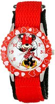 Disney Kids' W001914 Minnie Mouse Analog Display Analog Quartz Red Watch