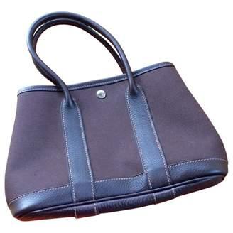 Hermes Garden Party Brown Leather Handbags