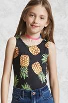 Forever 21 Girls Pineapple Bodysuit (Kids)