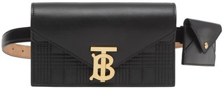 Burberry Quilted Lambskin Wallet With Leather Belt
