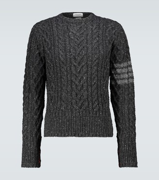 Thom Browne 4-Bar wool and mohair sweater