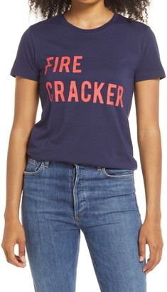 1901 Firecracker Graphic Cotton Blend Tee