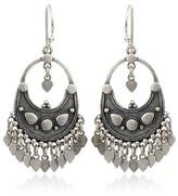 Satya Jewelry Silver Flower Petal Chandelier Earrings