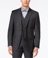 Lauren Ralph Lauren Solid Charcoal Big and Tall Classic-Fit Jacket