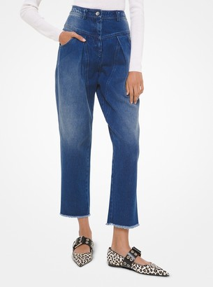 Michael Kors Denim Pleated Jeans