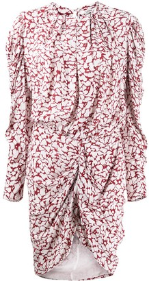 Etoile Isabel Marant Floral Print Draped Dress