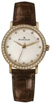 Blancpain Villeret 6102-2987-55 18K Yellow Gold Diamond Dial 29mm Womens Watch