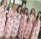 Etsy Ankle length Bridesmaids robes Sets | Pink Floral Posy Kimonos. Dressing Gowns. Bridesmaids gift, ge