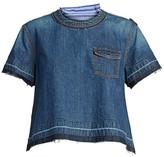 Sacai Pinstripe Denim T-Shirt