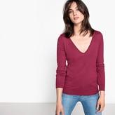 La Redoute Collections Cotton V-Neck Jumper