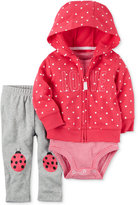 Carter's 3-Pc. Love Hoodie, Bodysuit & Ladybug Leggings Set, Baby Girls (0-24 months)