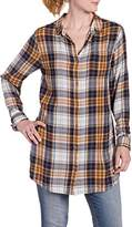 Jag Jeans Women's Long Sleeve Magnolia Tunic in Rayon Plaid