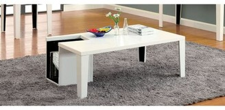 Hokku Designs Zedd Coffee Table with Storage Color: White
