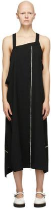 Y's Ys Black Wool Apron Dress