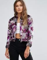 Lasula Floral Bomber Jacket