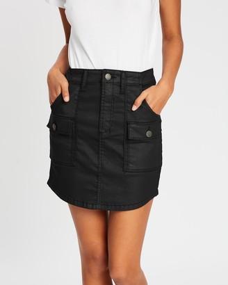 DRICOPER DENIM - Women's Black Denim skirts - Coated Utility Skirt - Size One Size, 7 at The Iconic