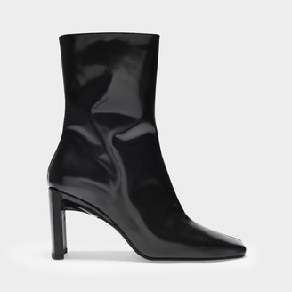 Miista Ankle Boots Ekaterina In Black Smooth Leather