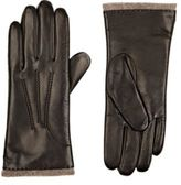 Barneys New York WOMEN'S LEATHER TOUCHSCREEN-COMPATIBLE GLOVES-BLACK SIZE NA