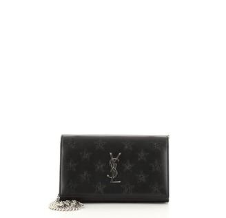 Saint Laurent Classic Monogram Wallet on Chain Leather with Applique