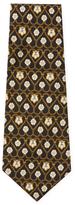Chanel Vintage Black Heart Chain Silk Tie