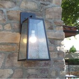 "Bronx Devaney Outdoor Wall Lantern Ivy Size: 11.75'' H x 5"" W x 6.25"" D, Fixture Finish: Imperial Black Finish"