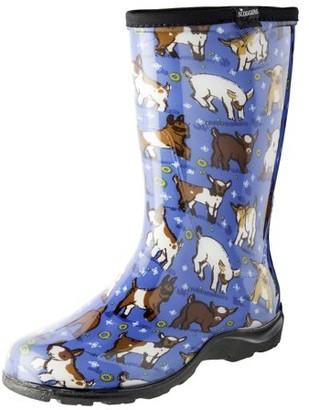 Principle Plastics Sloggers 5018GOBL07 Size 7 Women's Goats Sky Blue Rain & Garden Boots