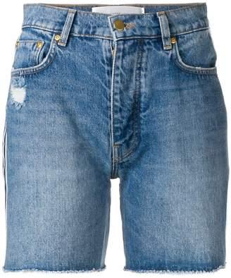 Victoria Victoria Beckham side stripe denim shorts