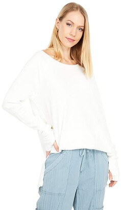 Free People Snowy Thermal (White) Women's Clothing