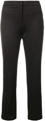 Cambio polka dot cropped trousers