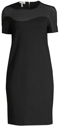 Escada Sport Illusion Polka Dot Shift Dress