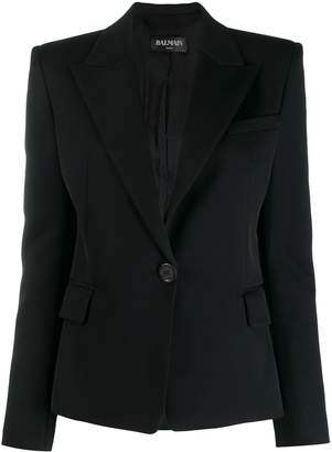 Balmain single button tailored blazer