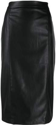Blumarine Be Faux Leather Pencil Skirt