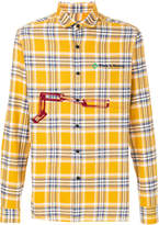 Lanvin checked chain-print shirt