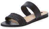 Ava & Aiden Woven Double Strap Flat Sandal