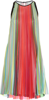 Mary Katrantzou Yas Rainbow Stripe-print dress