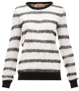 No.21 No. 21 - Chantilly-lace And Mohair-blend Sweater - Womens - Black White