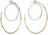Elizabeth and James Renee Gold-plated Acetate Hoop Earrings - one size
