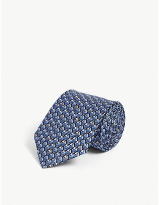 Lanvin Circle geometric-pattern silk tie