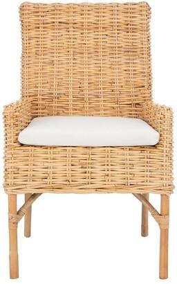 Safavieh Nancy Rattan Accent Chair W/ Cushion