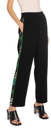 Kenzo Side-Stripe Crepe Jogger Pants