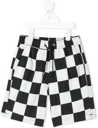 Wolf & Rita Checkered Print Swim Shorts