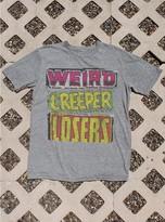 Junk Food Clothing Weird Creeper Losers Tee-steel-l