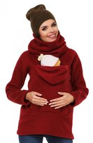 Zeta Ville Fashion Zeta Ville - Womens Maternity Sweatshirt Babywearing Carrier Back Front - 030c (