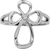 Jessica Simpson Fashion Collection Sterling Silver Diamond Cross Ring