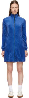 Opening Ceremony Blue Plush Velour Track Dress