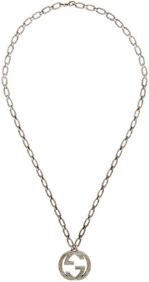 Gucci Silver Interlocking GG Necklace
