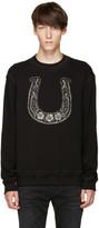 Dolce & Gabbana Black Horseshoe Sweatshirt