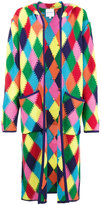 Mira Mikati Long Rainbow Diamond Crochet Cardigan
